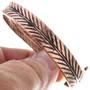 Native American Copper Bangle Bracelet 33328