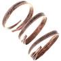 Southwestern Copper Feather Hoop Bracelet 33328