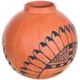 Jemez Redware Pottery Sunface Kachina Design 33335