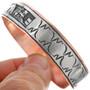 Navajo Pattern Silver Overlay Copper Bracelet 33353