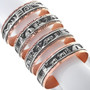Native American Storyteller Copper Cuff Bracelets 33355