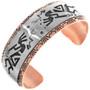 Copper Kokopelli Bracelet 33364