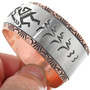 Overlaid Copper Silver Navajo Made Cuff 33364