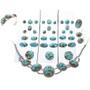 High Grade Number 8 Nevada Turquoise Necklace Set 15690