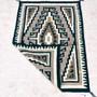Navajo Geometric Design Wool Rug Weaving 33385