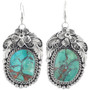 Matching Copper Spiderweb Turquoise Earrings 33387