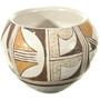 Old Hopi Polychrome Pottery Small Polacca Bowl 33510
