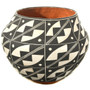 Vintage Acoma Pottery Traditional Black White Pattern 33515