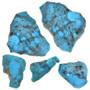 Kingman Turquoise Rough Nuggets Windowed 33418
