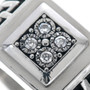 Diamond Sterling Silver Mens Ring 33526