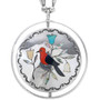Turquoise Sterling Silver Navajo Pendant 33540