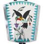Vintage Zuni Hummingbird Bolo Tie 33542