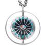 Vintage Zuni Inlaid Spinner Pendant 33543