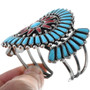 Navajo Turquoise Cluster Bracelet 33570