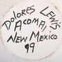 Dolores Lewis Acoma Pottery Artist Signed 33592