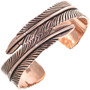 Navajo Copper Feather Bracelet 33599