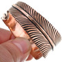 Bypass Design Copper Feather Bracelet 33599