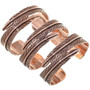 Copper Bypass Design Bracelet 33599