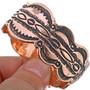 Copper Mens Cuff Heavy Gauge Hammered Bracelet 33602