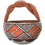 Polychrome Pottery With Twist Handle 33613