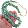 Fox Turquoise Nugget Necklace Mid 20th Century Squaw Wrap 33637