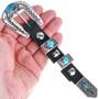 Overlaid Sterling Turquoise Silver Ranger Belt Buckle Set 33639