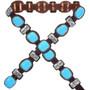 Sky Blue Turquoise Concho Belt 33662