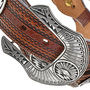 Navajo Geometric Design Silver Overlay Concho Belt 33819