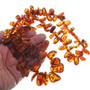 Beaded Amber Necklace Earrings Set 33827