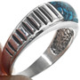 Sterling Silver Turquoise Mens Ring 33836
