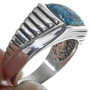Spiderweb Turquoise Sterling Silver Ring 33840