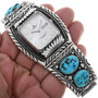 Sleeping Beauty Nuggets Turquoise Silver Watch 33626