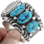 Old Pawn Natural Turquoise Navajo Watch Cuff 33852