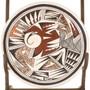 Hopi Tewa Navasie Pottery Plate 33925