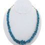 Old Pawn Turquoise Nugget Silver Necklace Set Matching Dangle Earrings 34074