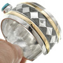 Vintage Overlaid Silver Gold Bracelet 31300