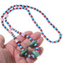Native American Beaded Turquoise Necklace 35299