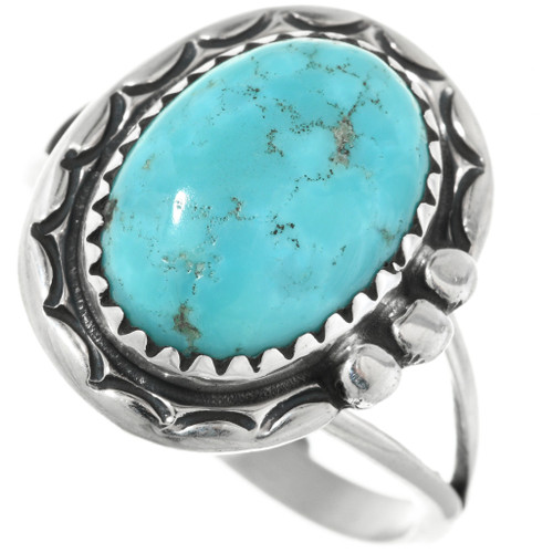 Details about  /Mens Turquoise Navajo Cocktail Silver Blue Stone Square High Quarlity Cool Rings