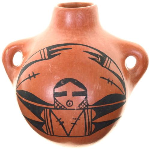 Pottery Designer Brooch Vintage Pottery Signed M.W Brooch