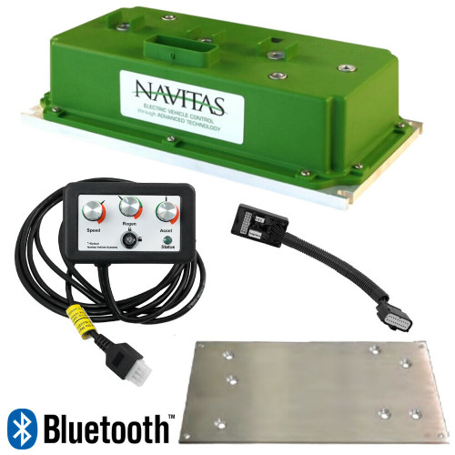 EZGO RXV (2012-Up, Curtis) Navitas 600 Amp AC Controller Kit with Bluetooth