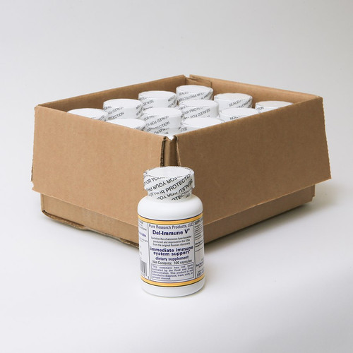 Case of 12 - Del-Immune V® 100 Capsule Bottles, 25mg