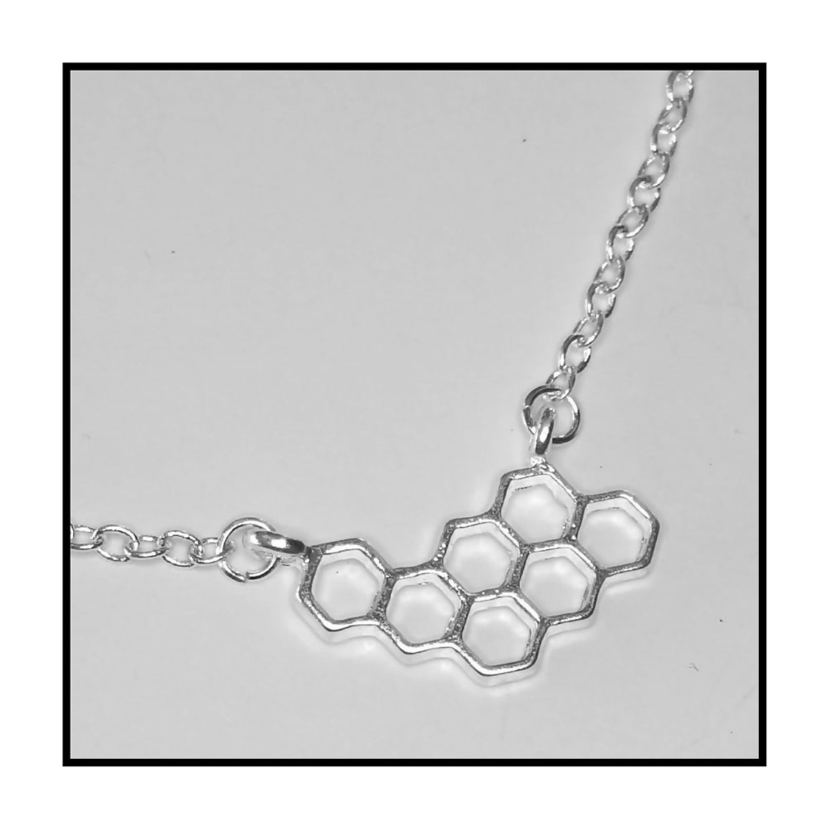 7ab9b1502ae8c Silver Honeycomb Necklace