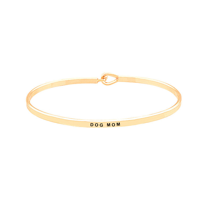 "Golden ""Dog Mom"" Bangle"