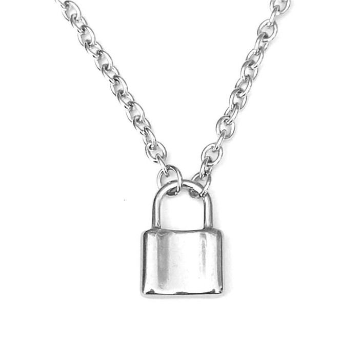 Stainless Steel Padlock Necklace