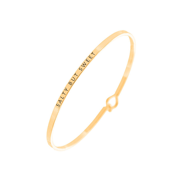 "Golden ""SALTY BUT SWEET"" Bangle"