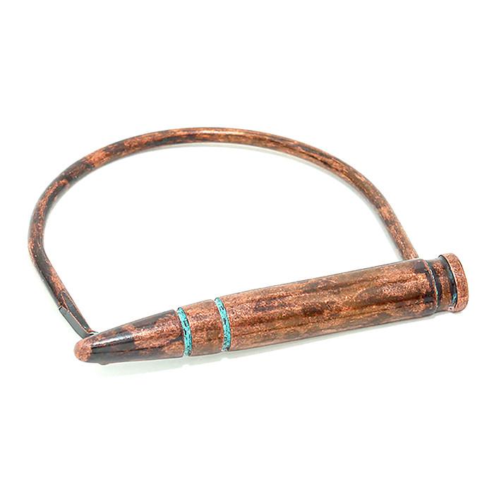 Copper Bullet Bangle