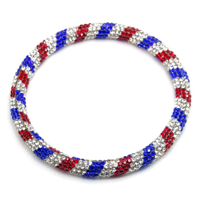Bejeweled Red, White & Blue Bangle