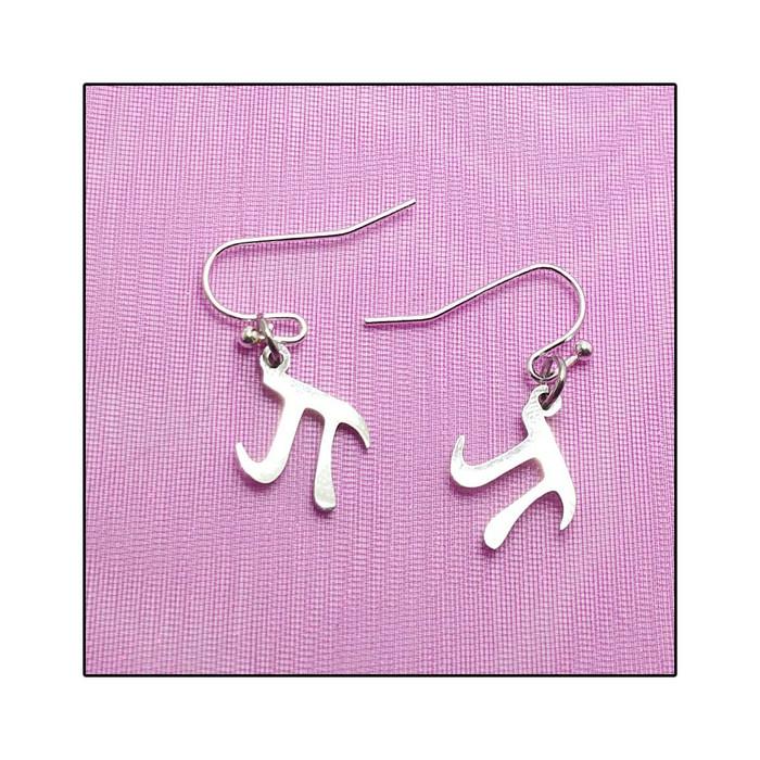 Stainless Steel Pi Drop Earrings