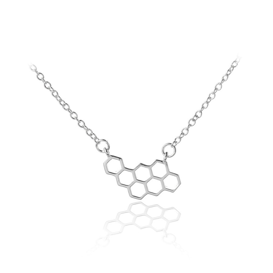 Silver Honeycomb Necklace