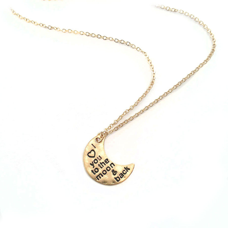 Golden 'I ™¡ You To The Moon and Back' Necklace